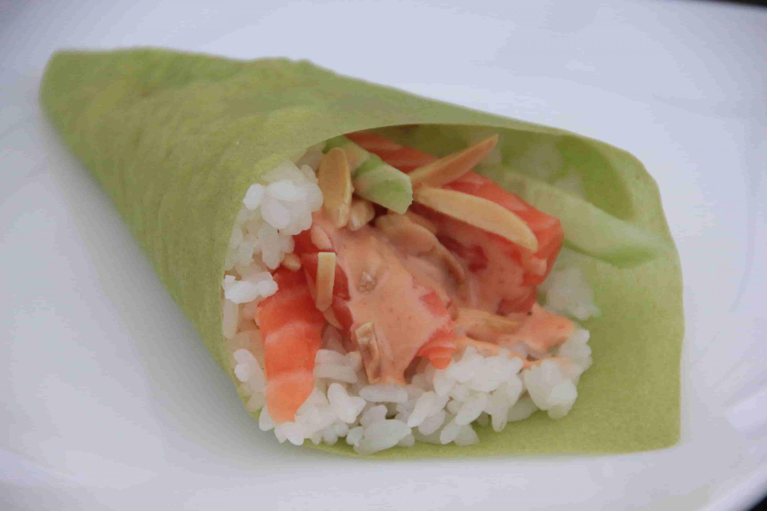 T7 Temaki spicy salmon plus