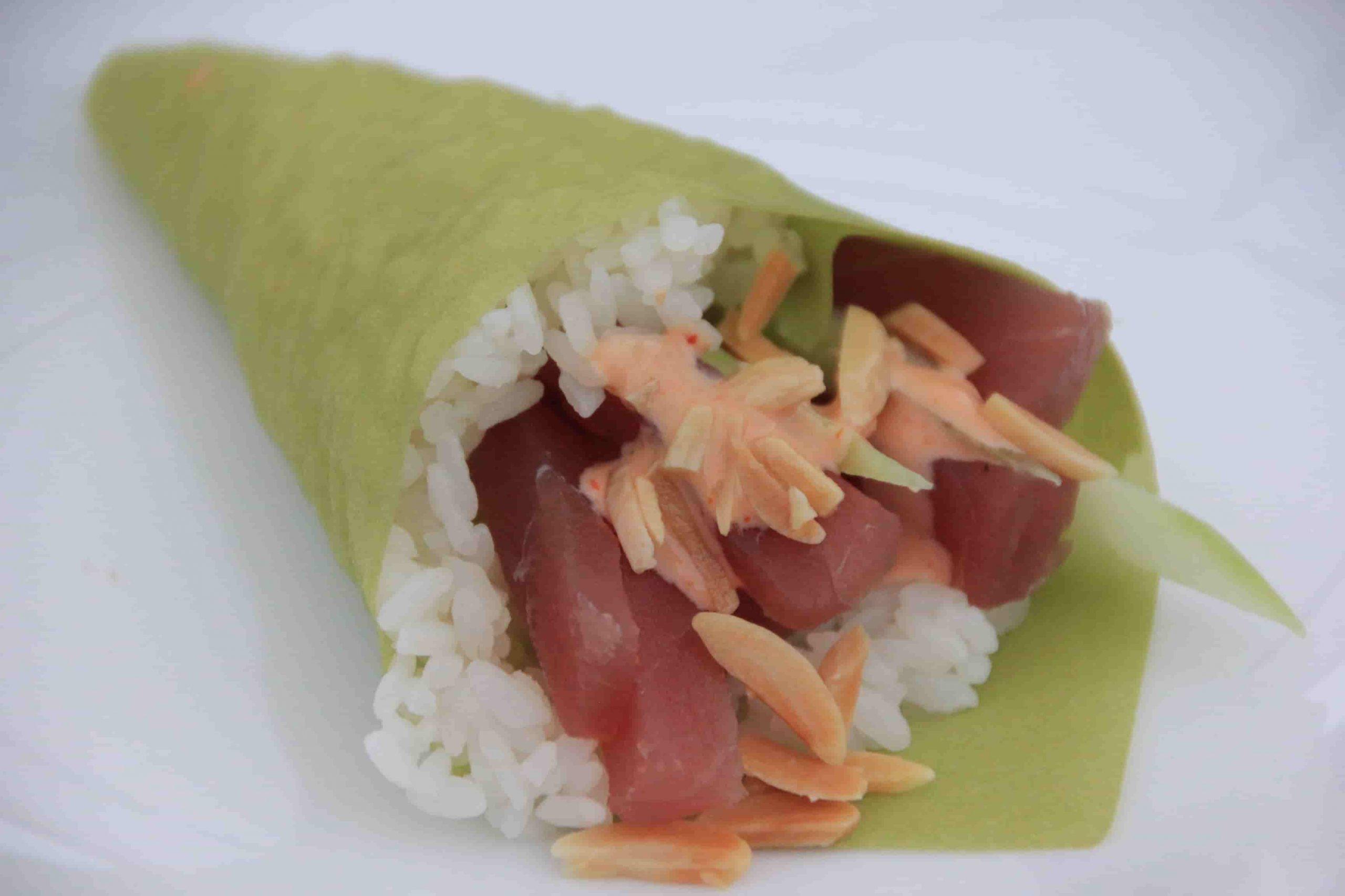 T8 Temaki spicy tuna plus