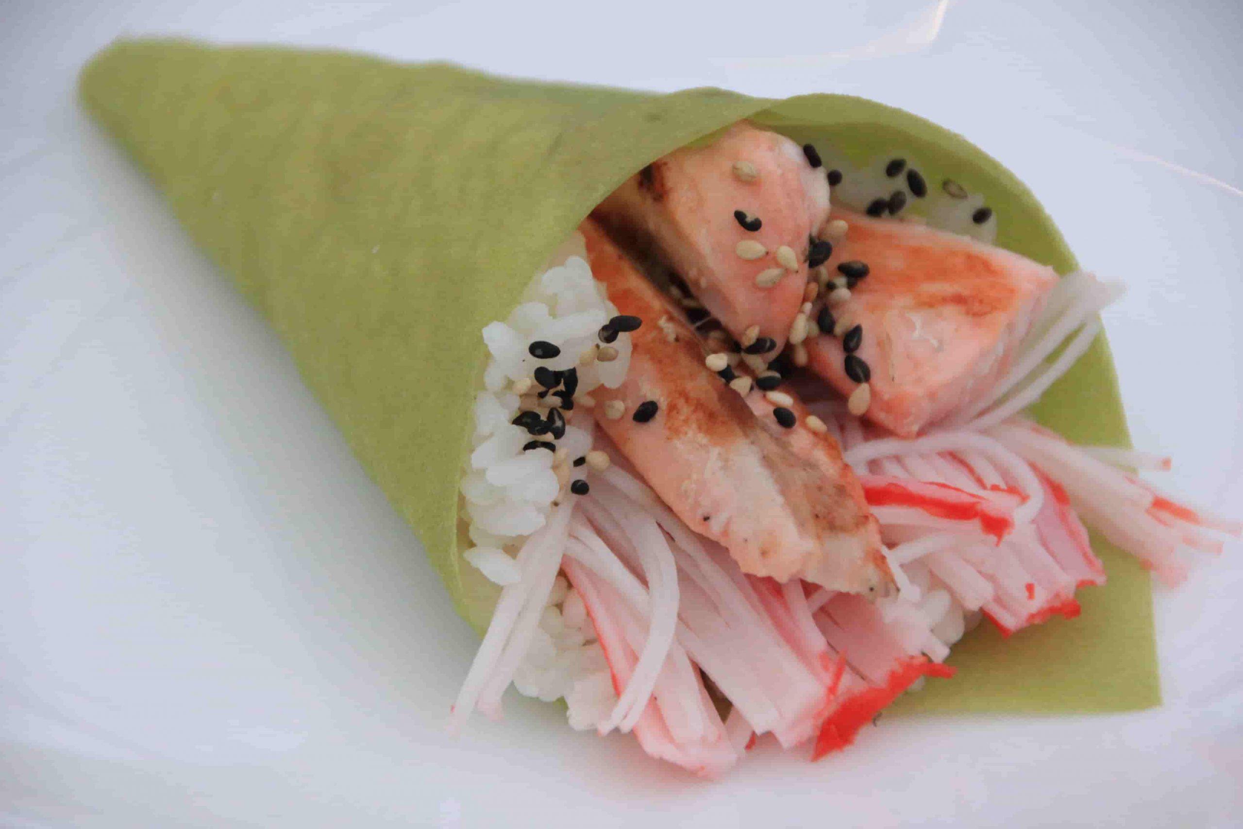T9 Temaki salmon style