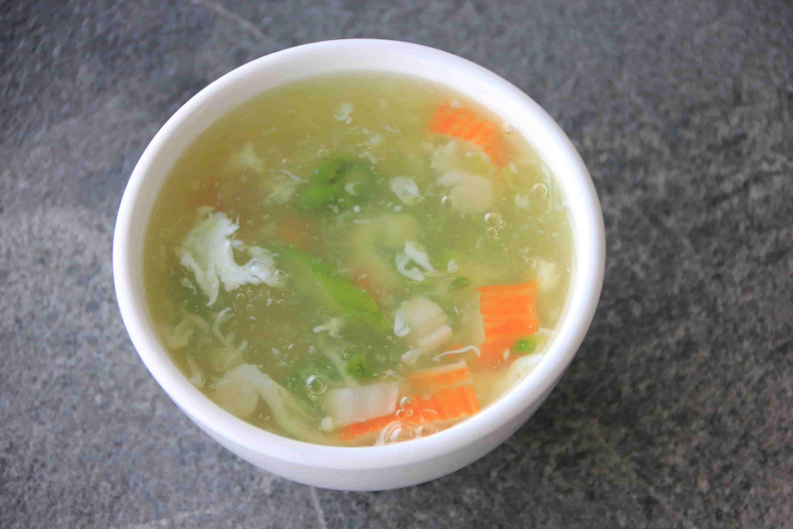 Z5 Zuppa di granchio e asparagi